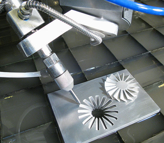 5 Axis Water Jet Cutting Head  Water Jet Multi Axis Cutting